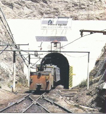 Entrada a la mina El Aguilar, Jujuy