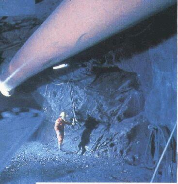 interior de una mina