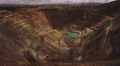 Open-pit en Tincaya, Perú